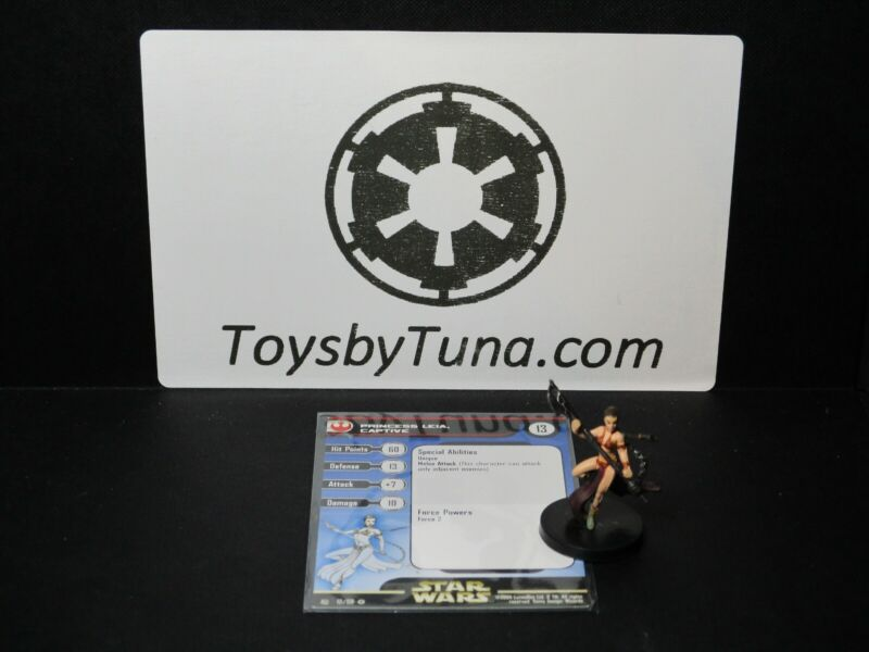 Star Wars Miniatures Princess Leia, Captive Rebel Storm w/ Card mini RPG Legion