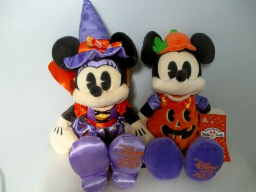 Disney Store Mickey and Minnie Mouse Halloween Plush NWT