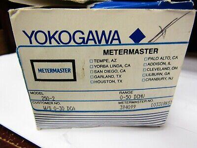 Yokogawa 250229eczz Panel Meter
