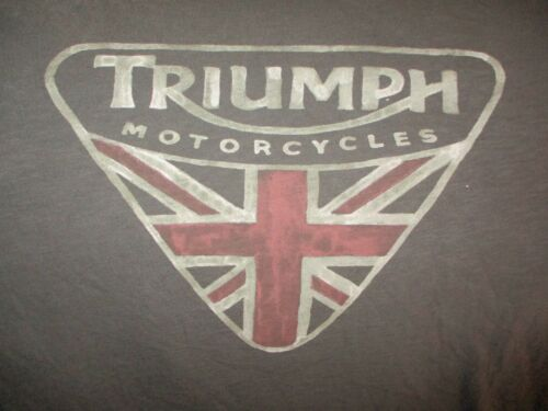 Soft Gray TRIUMPH MOTORCYCLES Distressed Logo T Shirt Large By Lucky Brand