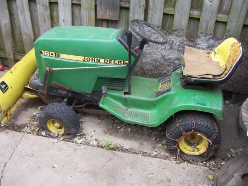 john deere snow tractor with blade