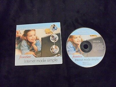 Used  Frontier High Speed 6520 Internet Installation Cd