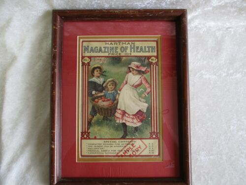 Antique Hartman Magazine of Health Cover Page - Matted/Framed
