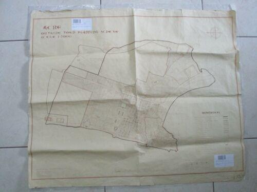 Acre: outline town planning,blueprint map, 1:5000 scale,survey of Palestine,1945