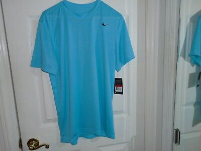 (Nike Dri-Fit Training Blue Short Sleeve Top Size Large New With Tags)