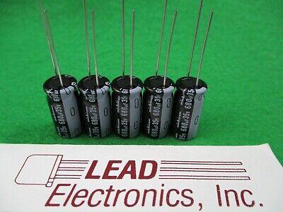 Qty 5 Nichicon 680uf 35-volt Radial 105-deg Uvz1v681mpd 680mfd 35v