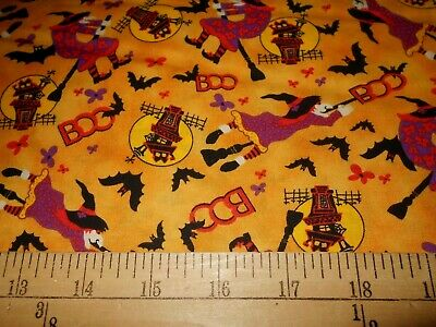 1 yard Halloween Witches Fabric