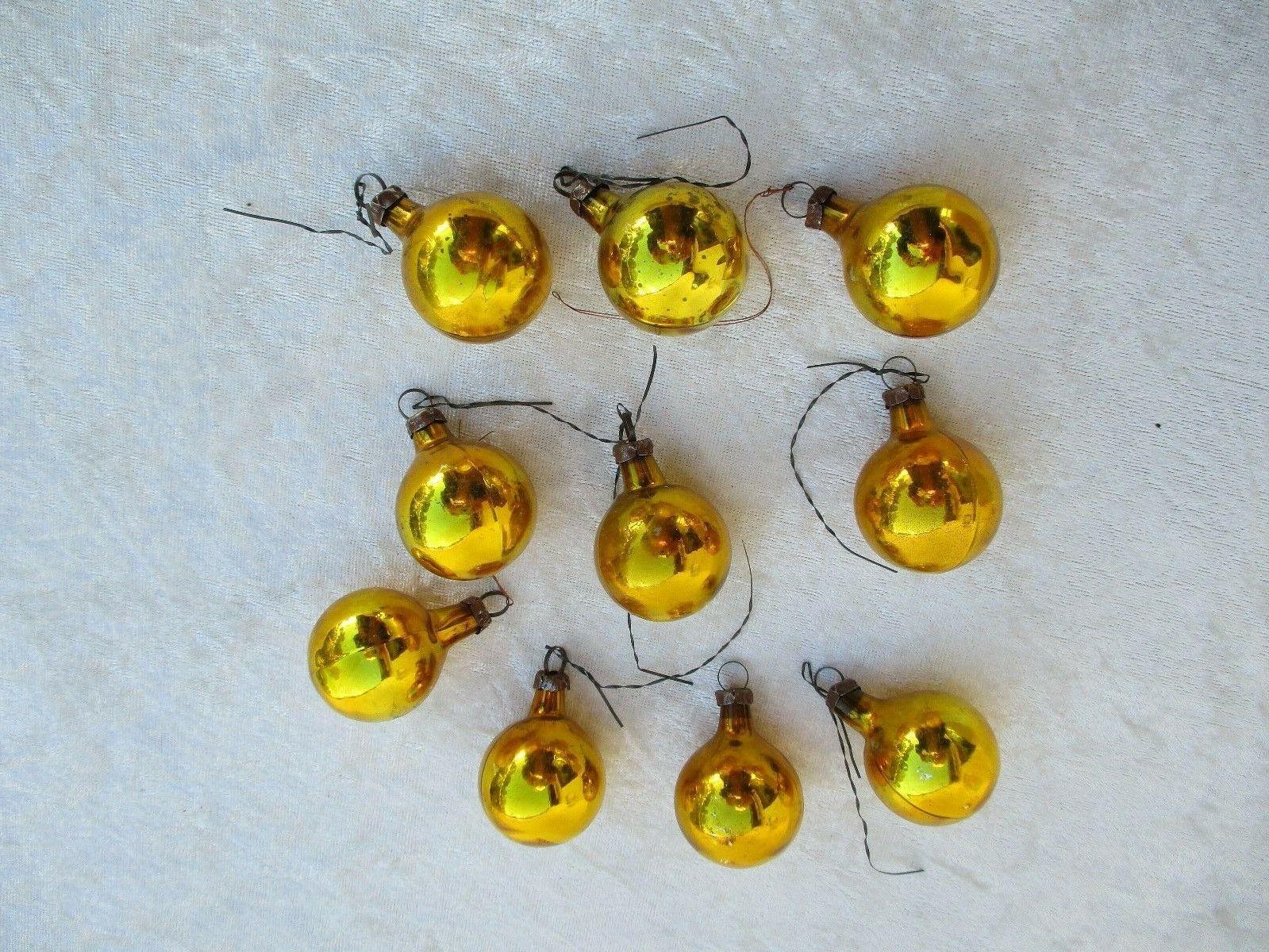 10 alte, schöne kleinere Christbaumkugeln Weihnachtskugeln ca. 50er/60er Jahre