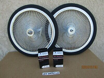 20''-140 SPOKES BICYCLE RIM SET WITH TIRES ,TUBES & LINERS F