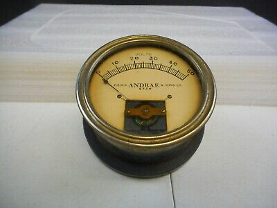 Vintage Julius Andrae Sons Co. Volt Meter Gauge 6924