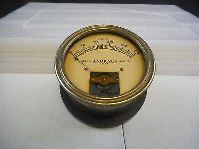 Vintage Julius Andrae Sons Co. Volt Meter Gauge 6924