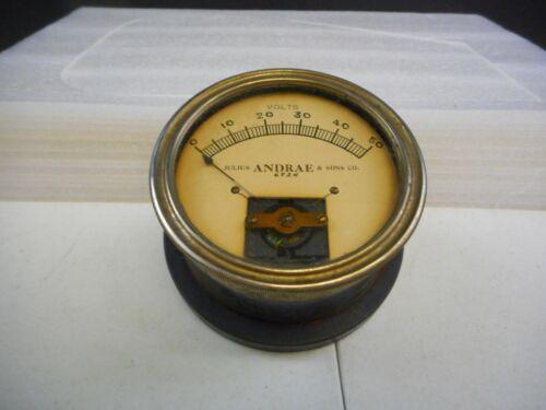 Vintage Julius Andrae & Sons Co. Volt Meter Gauge 6924