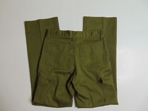 New Boy Scouts Of America Boys 20 Uniform Pants Relaxed Cargo Green USA Made
