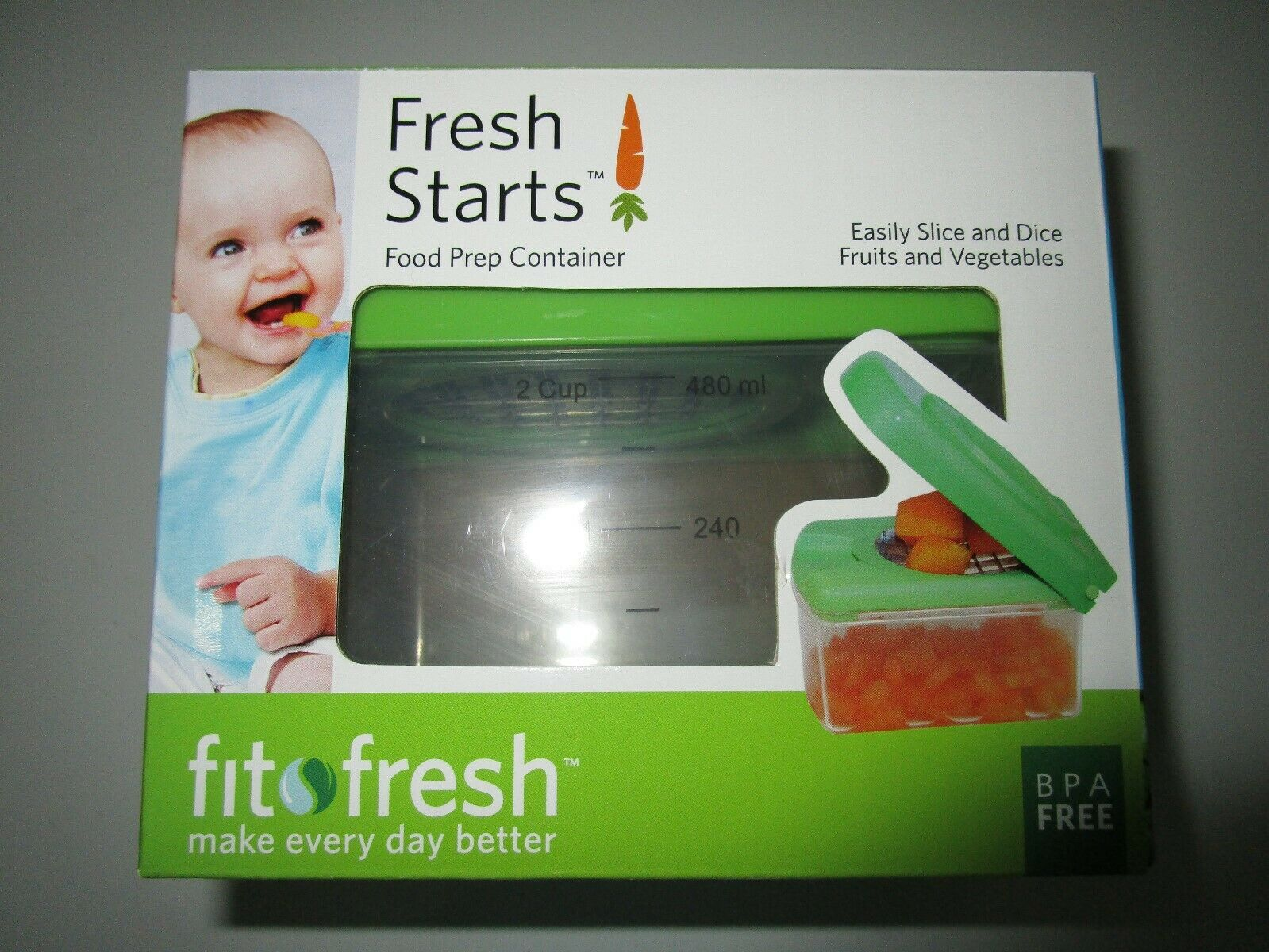 new fresh starts baby food prep container