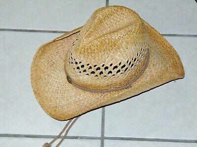 Henschel Well Worn Look Raffia Straw Hat Size M Unisex