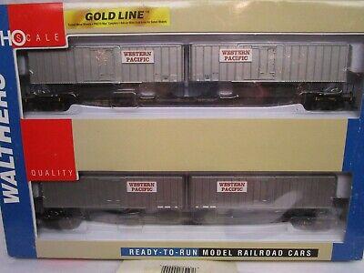 Ho Walthers Gold Western Pacific Flexi-Van Trailer Flat Car 2 Pack NOS 932-23929 Flexi Van Flat Car