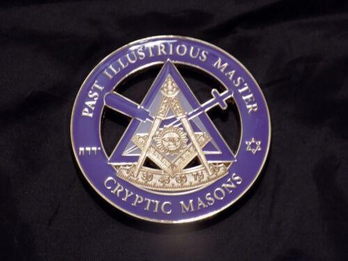 "Masonic 3"" Car Emblem York Rites Past Illustrious Master Cryptic Masons NEW!"