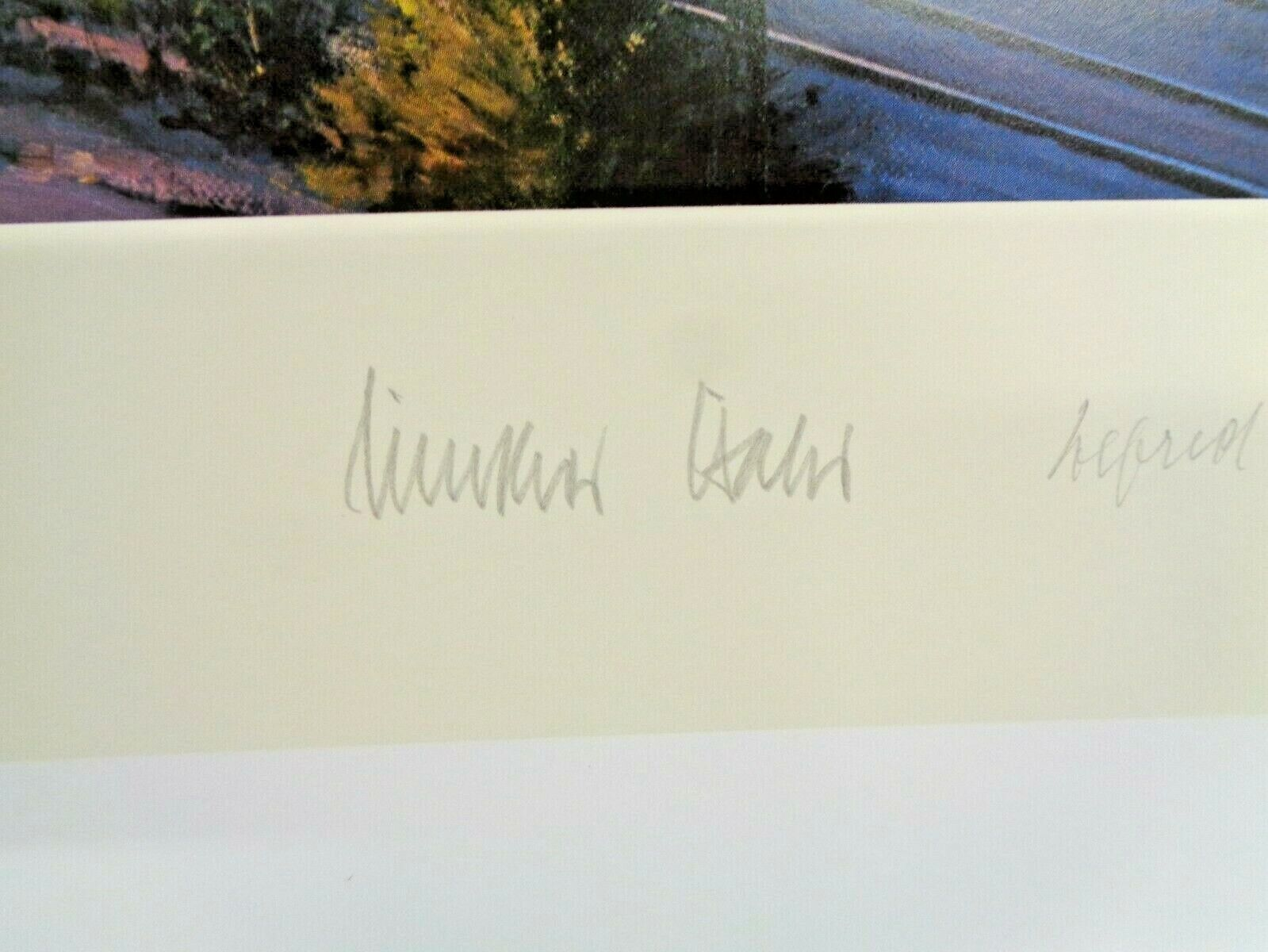 NICOLAS TRUDGIAN REMARQUE PRINT INTO THE CLOAK OF DARKNESS 36/50 SIGNED BY ACES - $345.00