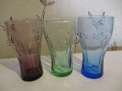 3 Coke / Coca-Cola Soda/Bell Style Drink Glasses 6