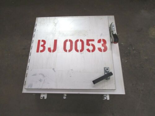 """HAMMOND 24""""X 25-1/4""""X 8"""" HINGED ELECTRICAL ENCLOSURE W/ 30A AMP SAFETY SWITCH"""