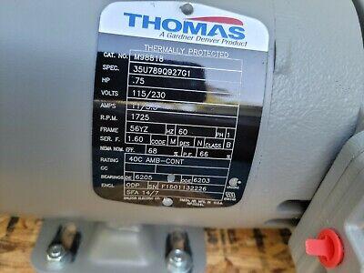 New Thomas Piston Air Compressor 34hp Ta-6102 Airation Pond Pump-270012