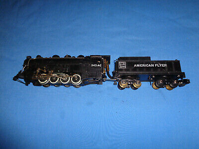 American Flyer #342AC 0-8-0 Switcher Locomotive & Tender. Runs & Smokes Well