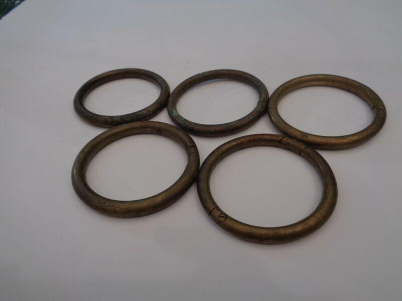 Vintage 5 Brass/Copper Bull Nose Rings