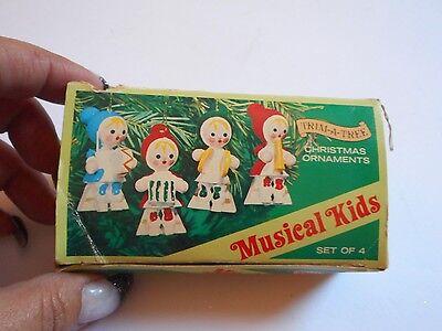 Vintage 1976 Musical Kids Christmas Ornaments