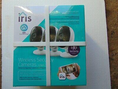 IRIS WIRELESS SECURITY CAMERAS 3 PACK / BRAND NEW