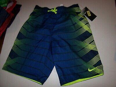 Nike boys swim trunk shorts elastic waist Drawstring medium 10 12 Large 14 16  ()