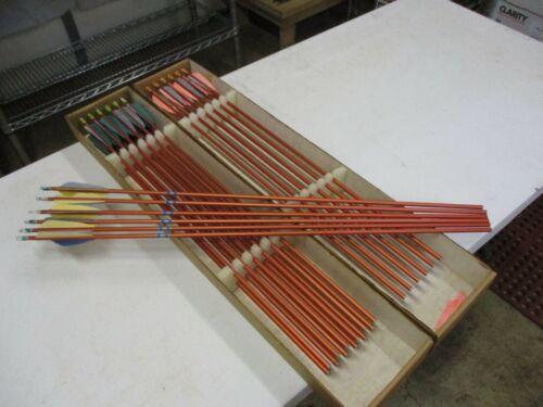 24 - Vintage Easton XX75 2016 Orange Aluminum Arrows - Need Re-Fletching