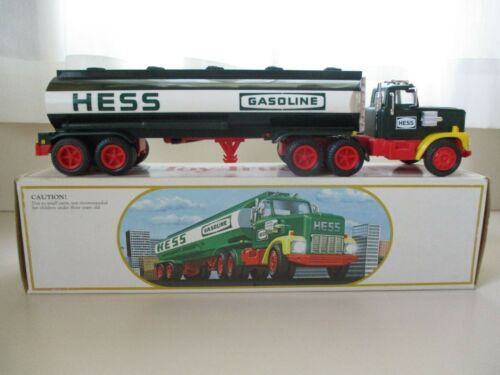 1984 HESS TOY TRUCK BANK - SEMI TRUCK / TANKER TRAILER - BOX