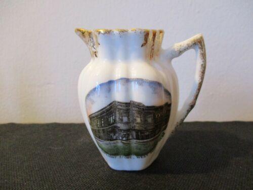 Circa 1910 Souvenir Porcelain Creamer The Daylight Store West Point Nebraska #
