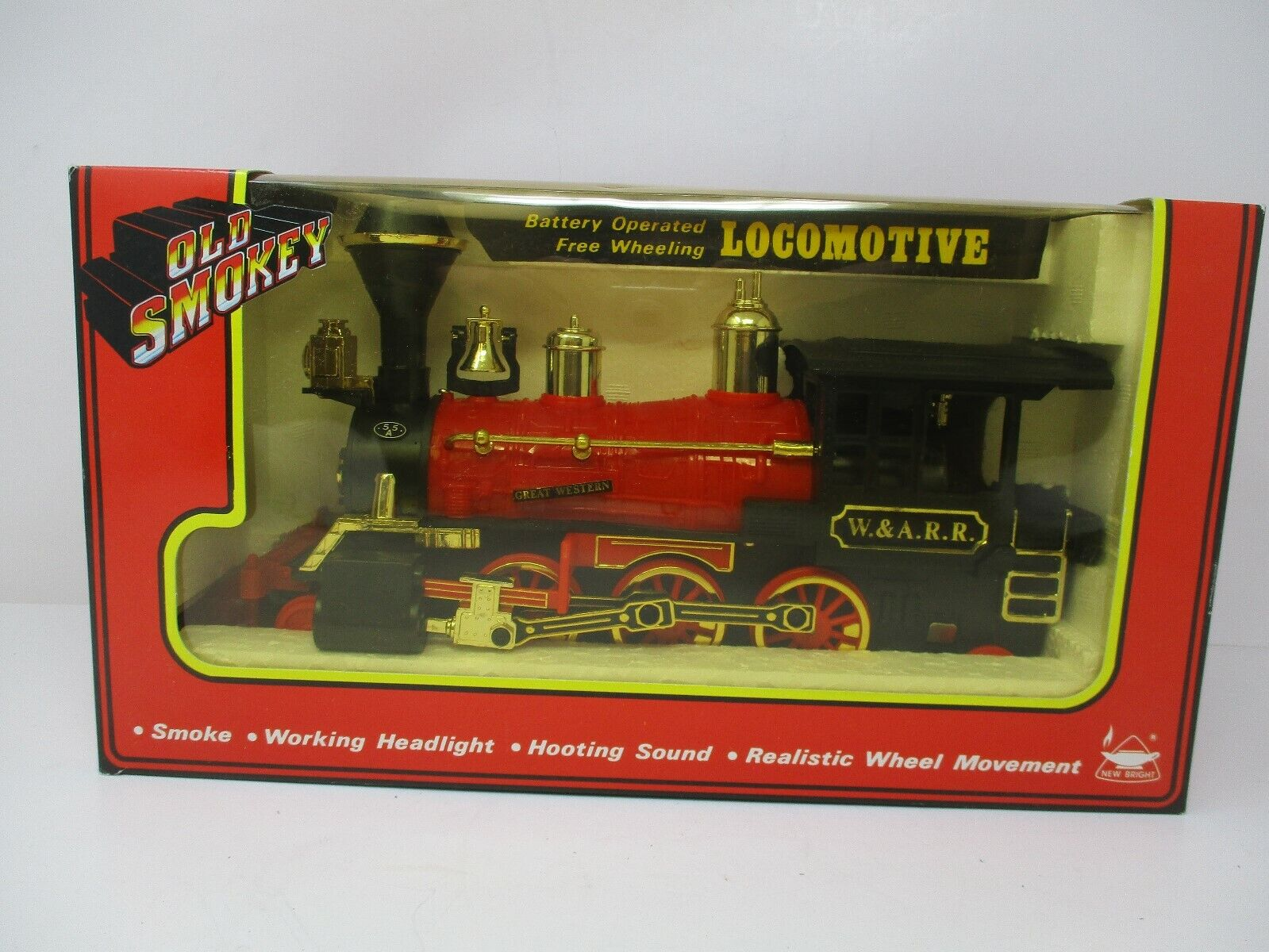 Old Smokey Battery Operated Free Wheeling Locomotive 1145 New In Box