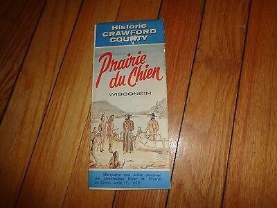 Prairie du Chien Wisconsin Brochure Crawford County Map