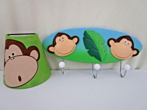 Monkey Night Light and Wall Coat Hanger Nursery Kids Room