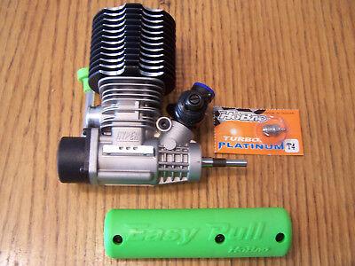Hobao 1/8 Hyper SS Nitro Buggy Mac Star .28 Turbo Engine Pull Start P4 Glow Plug