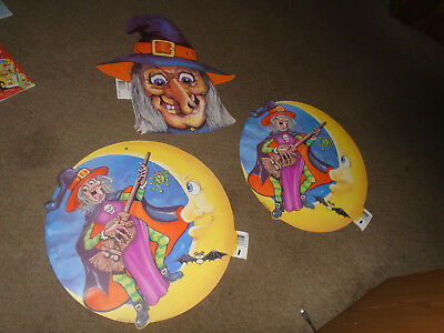 3 Random Marketing Canada Halloween die cuts-witches-16 inches  - Canada Halloween