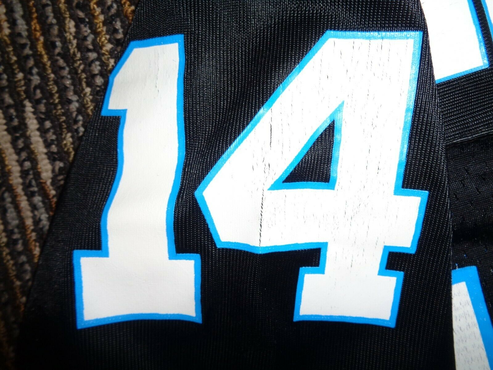 FRANK REICH 14 CAROLINA PANTHERS STARTER BLACK MENS NFL GAME FOOTBALL JERSEY XL - $39.99