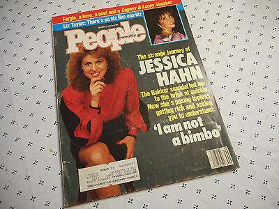 People Magazine October 1987 Jessica Hahn Liz Taylor Andre Dawson Taylor Hahn