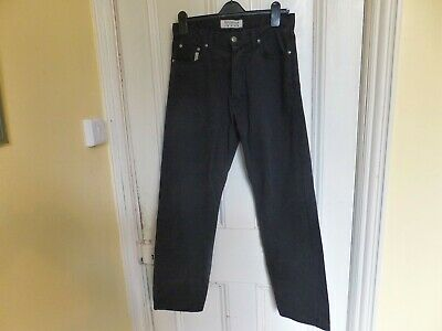 "MENS JEANS ""MATINIQUE' Black Cotton button fly 32 waist 30 inside leg"