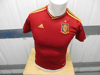 VINTAGE ADIDAS SPAIN NATIONAL TEAM MEDIUM SEWN YOUTH/WOMEN'S JERSEY 2012/13 KIT Adidas Spain Youth Home Jersey