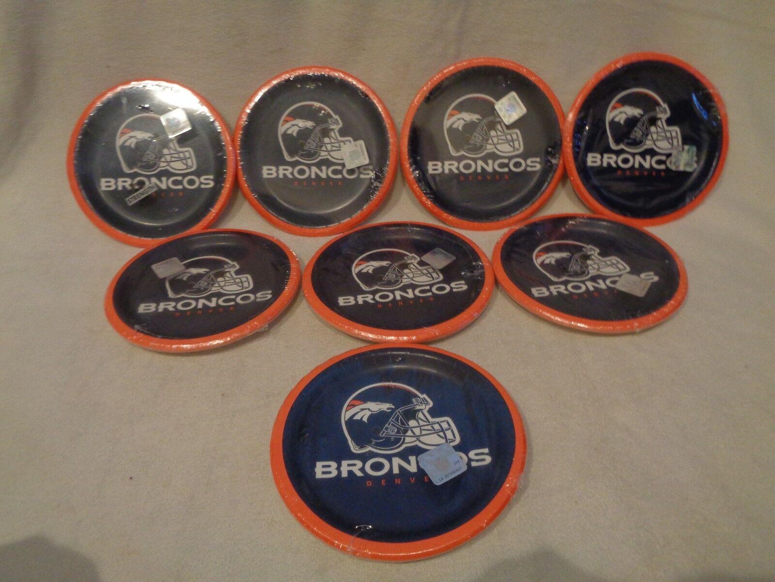 8 Packs of Creative Converting 8 Count Denver Broncos Paper