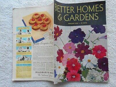 BETTER HOMES & GARDENS Magazine-FEBRUARY.1935-NAT LITTLE COVER (Best Covering Interior Paint)