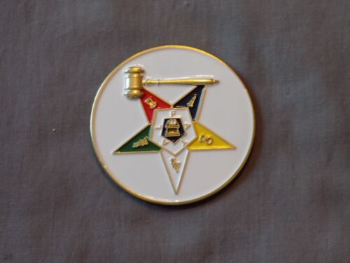 "Masonic 3"" Car Emblem Colorful Order Eastern Star OES Past Matron Metal NEW!"