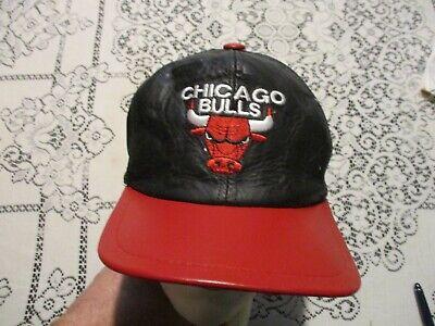 CHICAGO BULLS VINTAGE FAUX SUEDE LEATHER 1980-1990s SNAPBACK HAT MICHAEL JORDAN