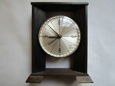 Vtg Linden Guild 8 Day 7 Jewel Brass Mantle Clock Art Deco Alarm Travel France