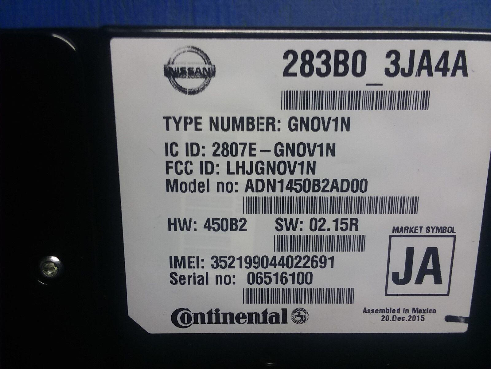 Used Infiniti Qx60 Computers Chips Cruise Control And Related Fuse Box 2014 2016 Oem Gg508 Module Telematics Communication 283b03ja6a