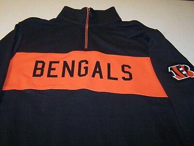 Cincinnati Bengals Black Zippered Sweatshirt Mens Sizes    New with Tags  Black Cincinnati Bengals Sweatshirt