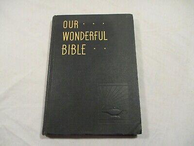 Vintage 1948 Our Wonderful Bible US Navy Naval Station Library Kodiak Alaska